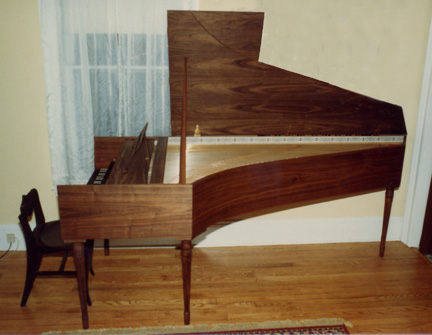 Harpsichord built by Robert Chuckrow